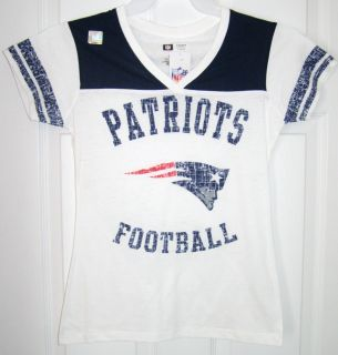 New England Patriots Womens Team Touch Burnout II V Neck Shirt