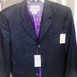 Conwell Brand Men 42 R Black Sportcoat Wool Blend Original Tag $ 95