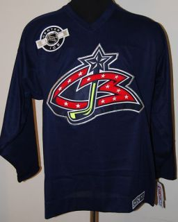 CCM Center Ice Columbus Blue Jackets Jersey MSRP $79 99