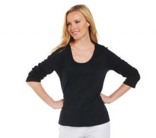 Liz Claiborne New York Essentials Rounded V neck T shirt —