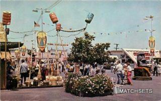 Costa Mesa California Entrance Orange County Fair Postcard