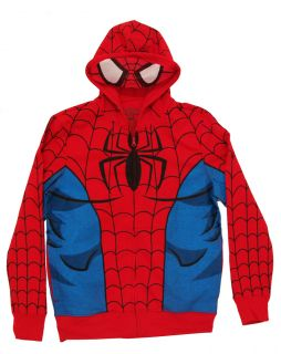 Marvel Comics Spiderman Adult Costume Hoodie Hooded Sweatshirt