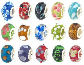 Bundle Monster Silver Lampwork Murano Glass European Mix Design Beads