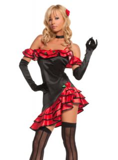Deluxe Sexy Saloon Bar Girl Halloween Costume Sz M Cute Fantasy Outfit