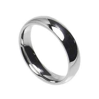 Stainless Steel Comfort Fit Plain Wedding Band Ring