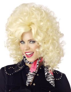 country western diva dolly parton wig color blonde brand new
