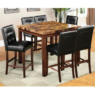 rockford faux marble top counter height dinette set