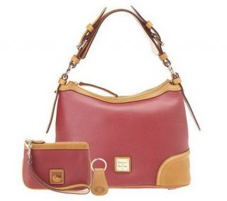 Dooney & Bourke Leather Hobo Bag with Wristlet and Key Fob   A216155