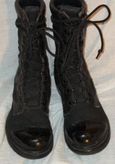 VTG LEATHER CANVAS COMBAT MILITARY JUMP CORCORAN BOOTS 6 USA