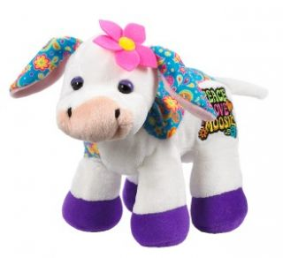 Cow Peace Love Moosic Ganz Webkinz Rockerz 8 5 Plush Stuffed Animal