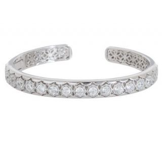 Tacori IV Diamonique Epiphany Bloom Cut Hinged Cuff —
