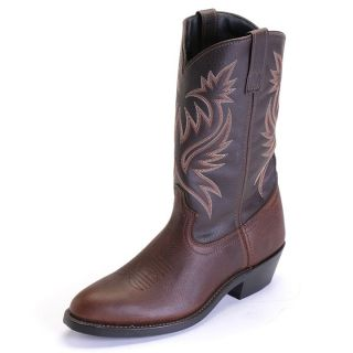 Laredo Paris R Toe Western Cowboy Boots Copper Kettle