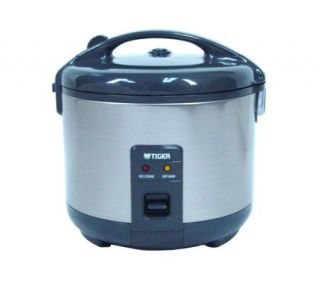 Tiger 5.5 Cup Stainless Steel Rice Cooker/Warmer —