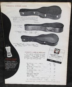 Vintage 64 Cordova Guitars Classical Acoustic Guitar Catalog Price