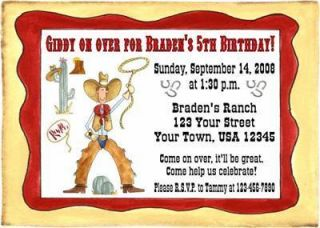 Personalized Cowboy Birthday Invitations Western Party
