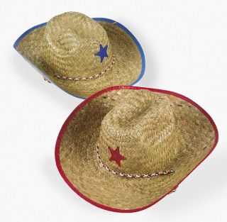 Kids Straw Cowboy Hats Childs Rodeo Western Party favors Birthday