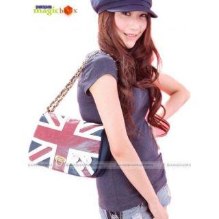 UK Flag Union Jack Women Handbag Shoulder Bag w Badge