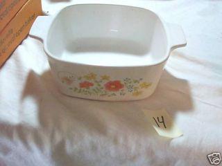 Pyrex Corning Ware Wild Flower Pattern Casserole Dish
