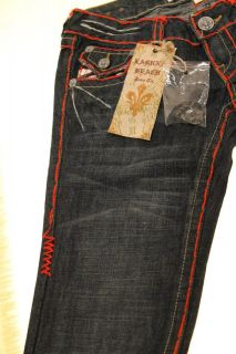 NWT Womens Laguna Beach Jeans  Corona Del Mar  Red Stitch Size 26