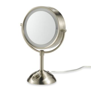 Conair BE103 Lighted 10x Satin Nickel Makeup Mirror New
