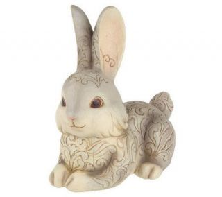 Jim Shore Heartwood Creek Gray Bunny Garden Statue —