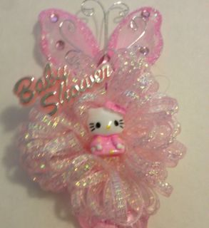 12 Hello Kitty Corsages with Pins Great Baby Shower Favors
