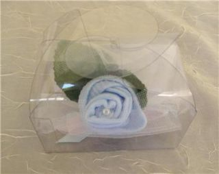 Handmade Baby Sock Rosebud Corsages for Baby Shower Favors New