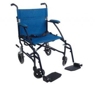 Drive Medical Superlight Folding Transport Chair —