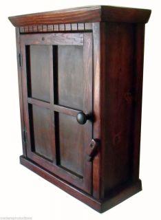 Custom Made Wood Arts Crafts Window Design Wood Wall Mount Cabinet