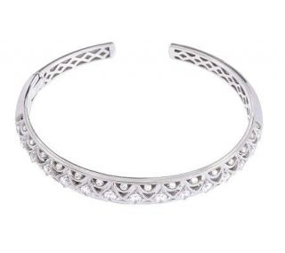 Tacori IV Diamonique Epiphany Crescent Design Hinged Bangle —