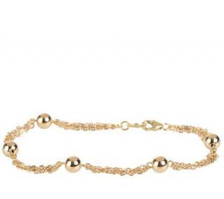 EternaGold 8 Multi Strand Bead Bracelet 14K Gold, 3.1g —