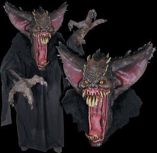 Huge Extreme Adult Grusome Bat Halloween Mask Costume