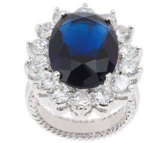 Kenneth Jay Lanes Princess Simulated Sapphire Ring —