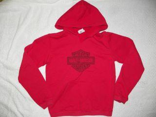 Girls HARLEY DAVIDSON MOTORCYCLES Hooded Sweatshirt Hoodie Large