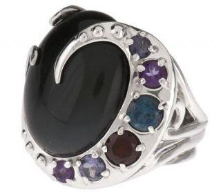Carolyn Pollack Sterling Moondance 1.10 cttw Gemstone Ring —