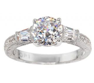 Tacori IV Diamonique Epiphany Bloom Cut & Baguette Ring —