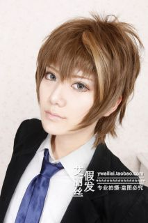 New Guilty Crown Ouma Shu Brown Mix Short Cosplay Wig