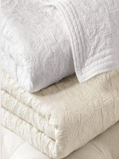 Ralph Lauren Garden Gate Cotton Full Queen Quilt White