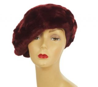 Dennis Basso Faux Fur Fully Lined Beret with Elastic Band —