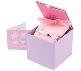 For Diamond Sterling Engraved ABC Music Box Bangle Bracelet —