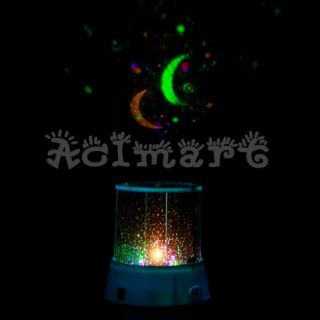 Sky Night Light Cosmos Projector Star Constellation Kids Bedside Lamp