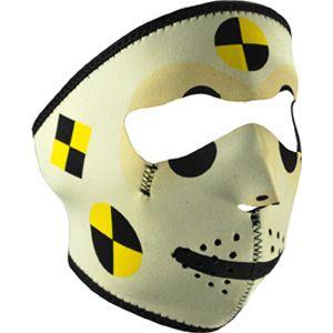 Crash Test Dummy Neoprene Full Face Costume Party Mask