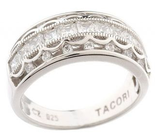 Tacori IV Diamonique Epiphany Crescent Design Princess Band —