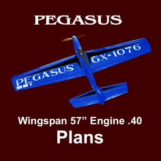 Model Airplane Plan Control Line Classic Stunt