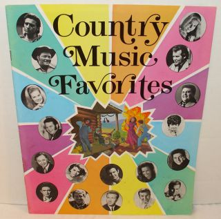 Country Music Favorites Vintage Souvenir Book Packed