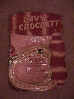 Davy Crockett 1950s cap gun western cowboy rope lasso playset MIP