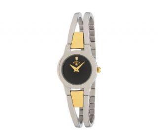 Swiss Tradition Ladies Diamond Watch, Two tonew/ Black Dial
