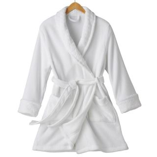 Croft & Barrow Robe Short WHITE Plush SOFT XL 18   20 Womens NEW