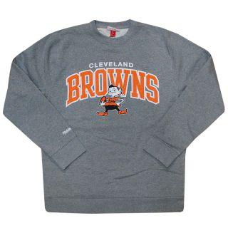 CLEVELAND BROWNS Mitchell & Ness M NFL Gray Arch Crew Sweatshirt