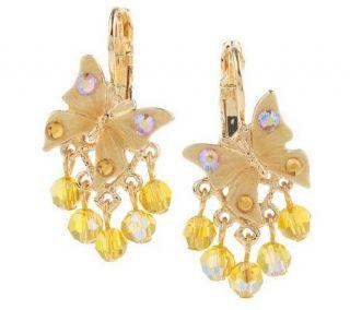 Kirks Folly ButterflyKisses Sparkle Lever Back Earrings —